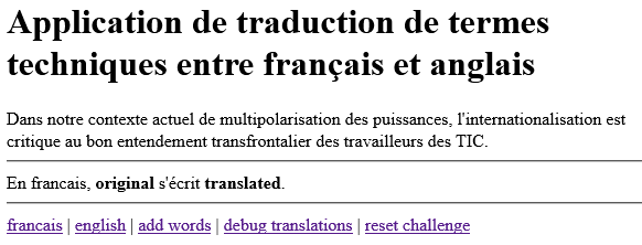 View translation