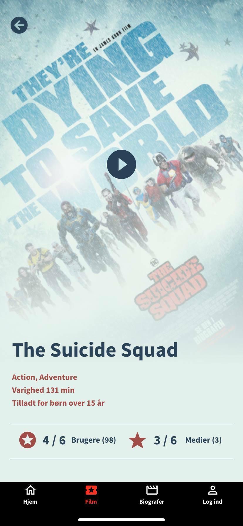 suicide squad movie profile kino app
