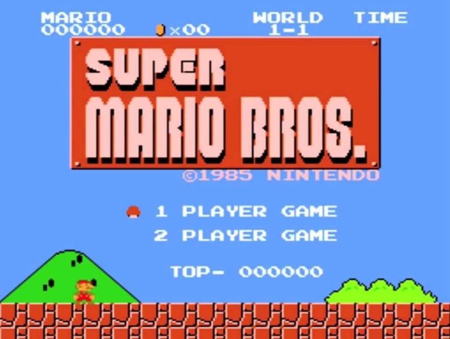 Mario Start Screen
