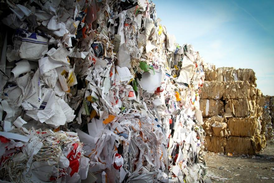 pile of paper garbage