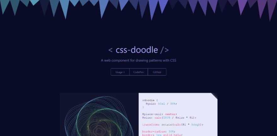 <css-doodle />