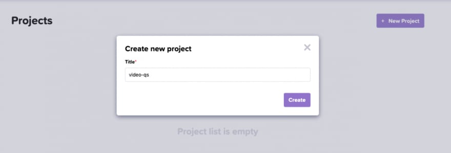 Create a new Loadero project