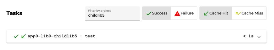 Nx Cloud run details filtering options
