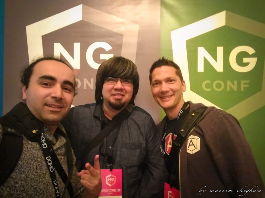 "The ""original"" Angular Universal Core team with [Patrick JS Stapleton](https://twitter.com/PatrickJS__) and [Jeff Whelpley](https://twitter.com/jeffwhelpley). Photo taken at ng-conf 2016."