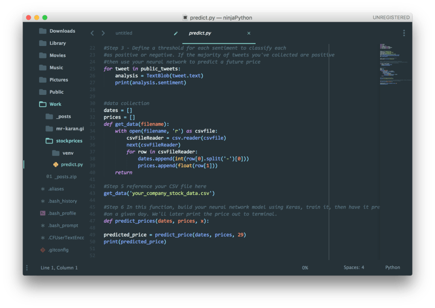 Material Theme on Sublime Text