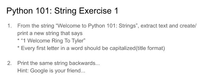 Python 101 scope