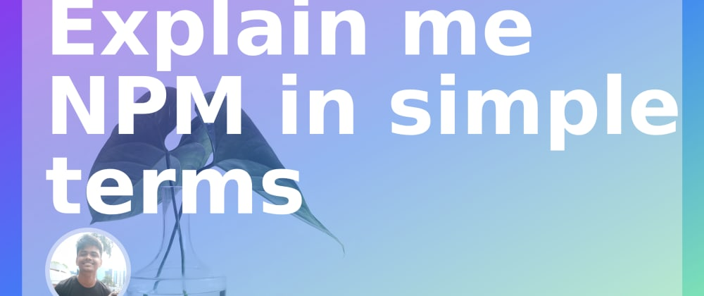 Cover image for Explain me NPM in simple terms