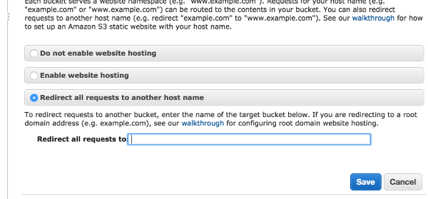 AWS Bucket Redirect