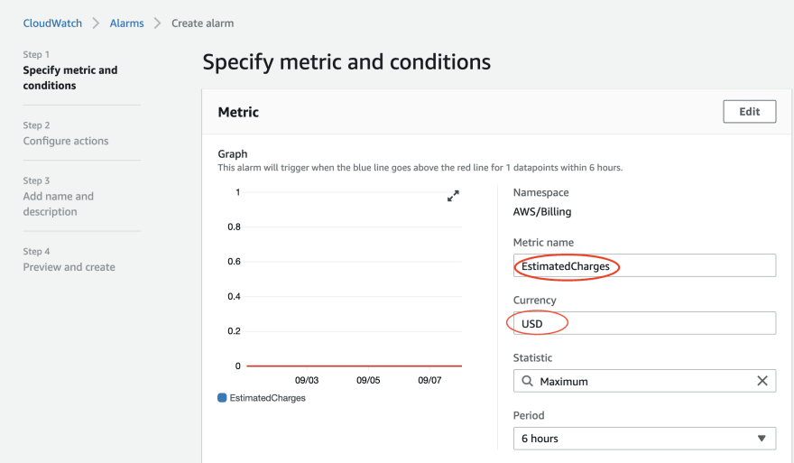 Image of metric tracking page