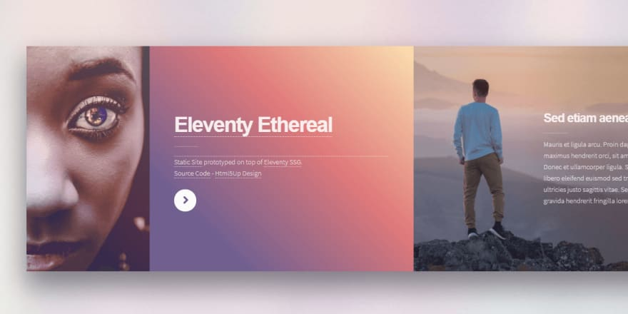 Eleventy - Html5Up Ethereal, sample project generated by AppSeed.