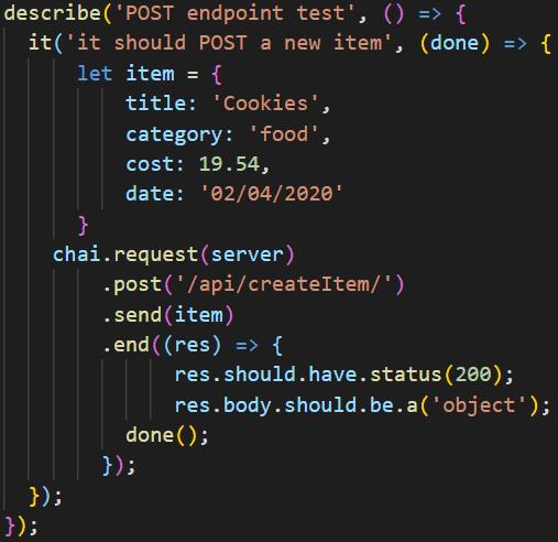 Handling data in a Mocha back-end test