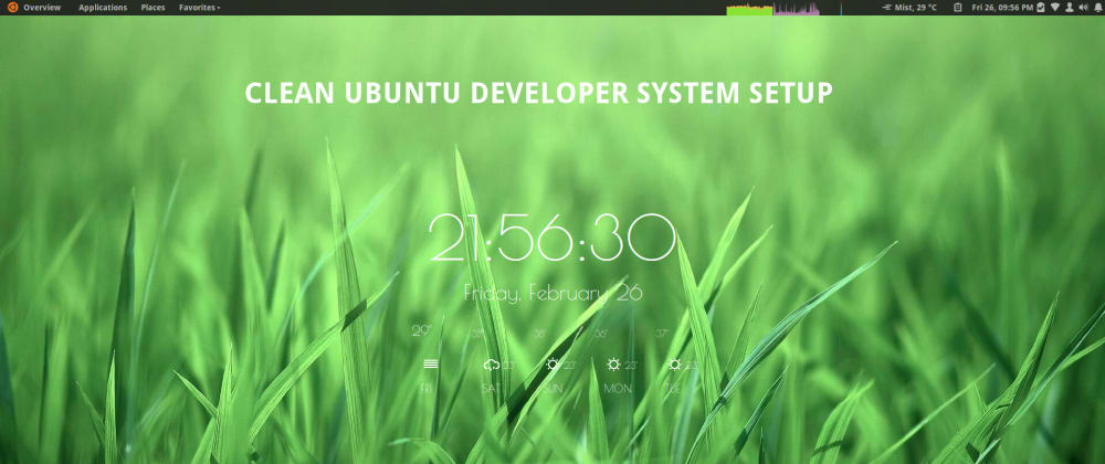 Cover image for Clean and minimal Ubuntu system setup for developer productivity