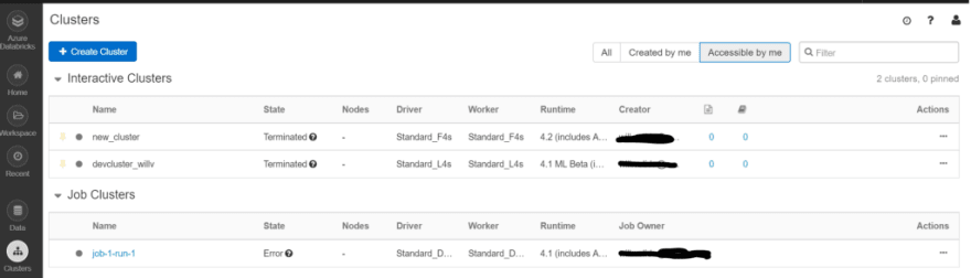 Managing and Configuring Clusters within Azure Databricks - DEV