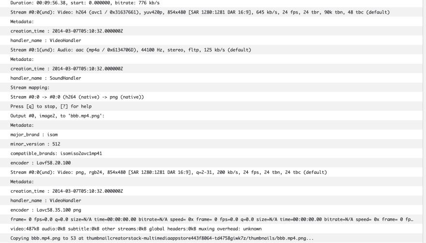 Fargate task logs