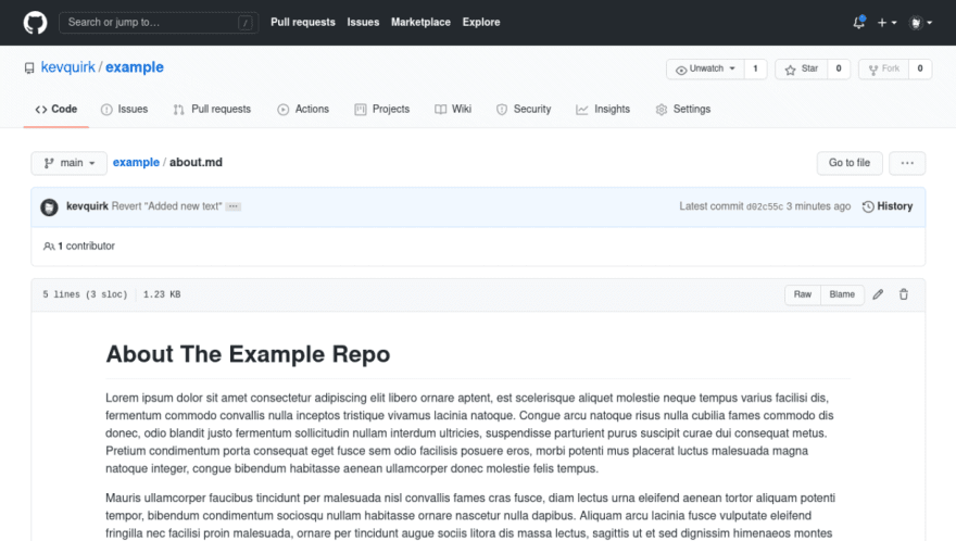 About.md example commit reverted