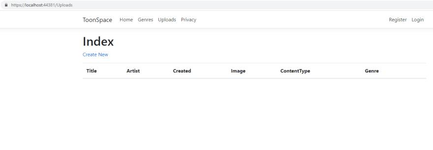 Uploads Index