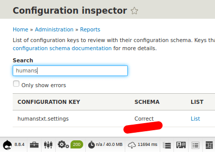 Configuration Inspector Module Feedback
