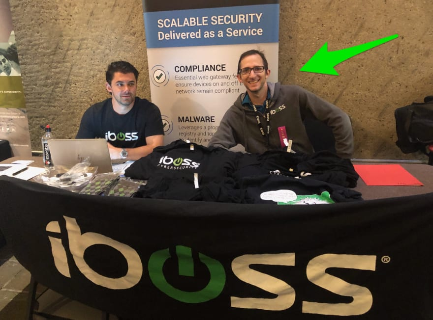 Michael Mintz at the iboss booth