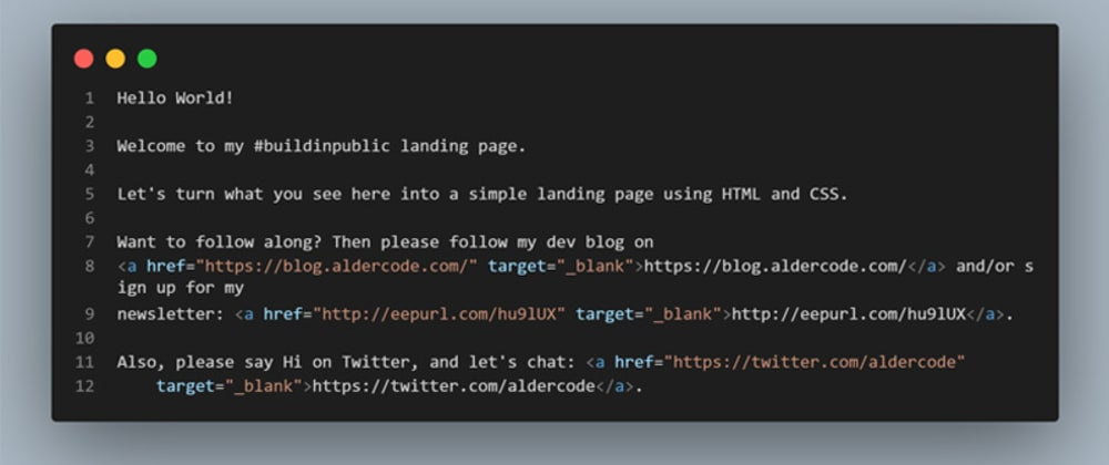 Cover image for Building a landing page with HTML & CSS - part 1