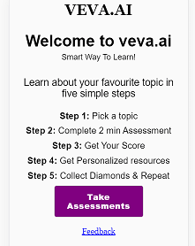 Screen shot of veve.ai home-page
