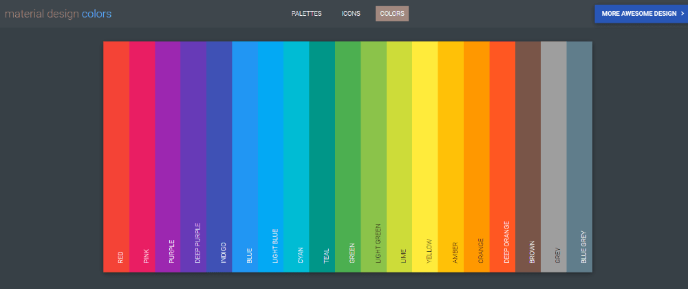 Cover image for Material Colors Palette