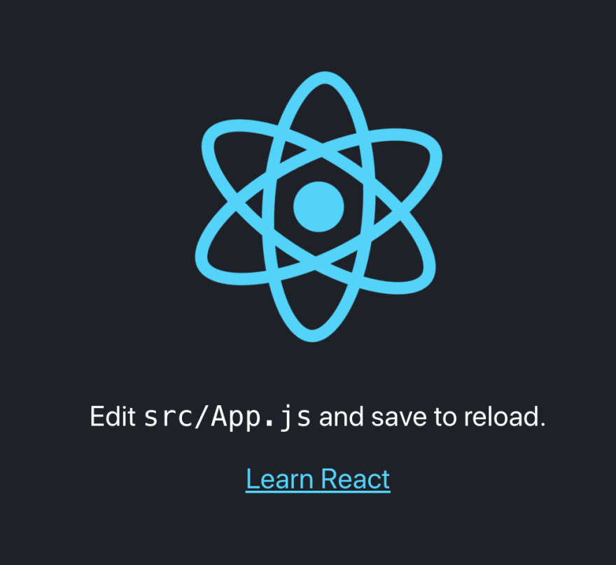 React default page