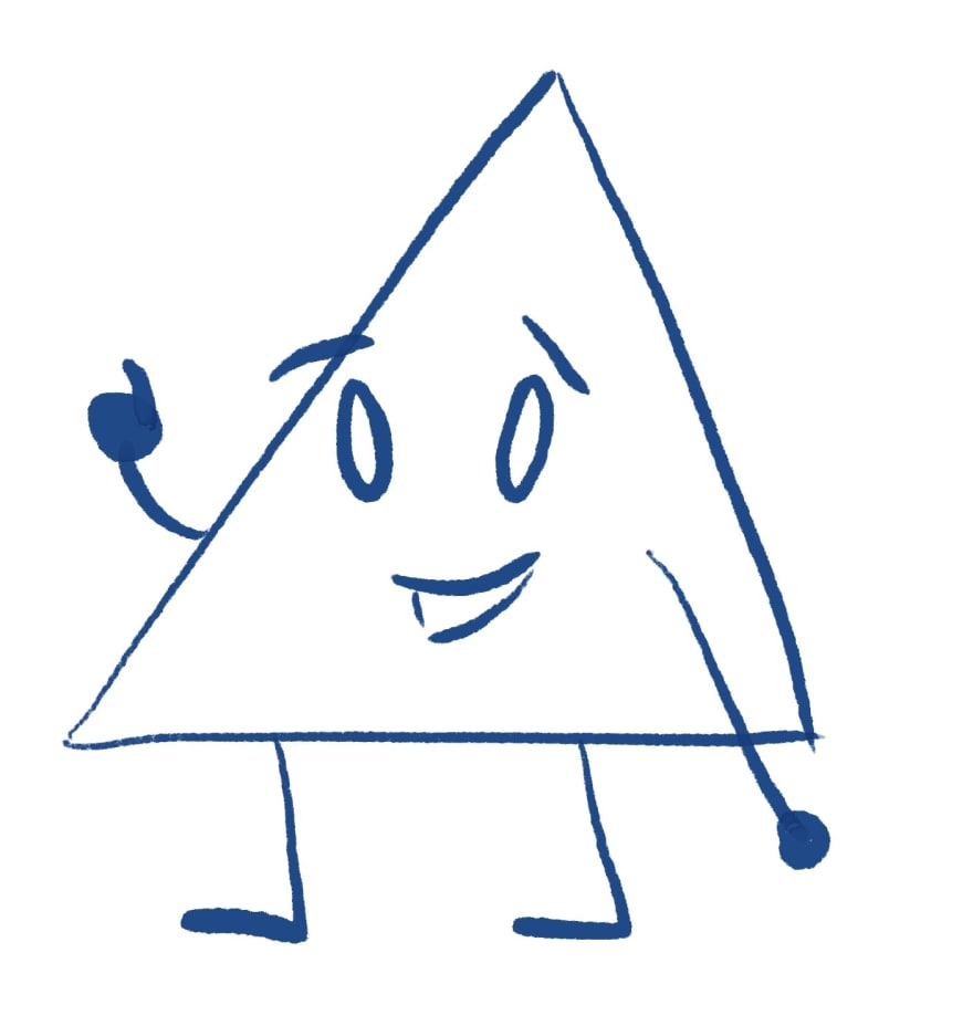 cartoon triangle
