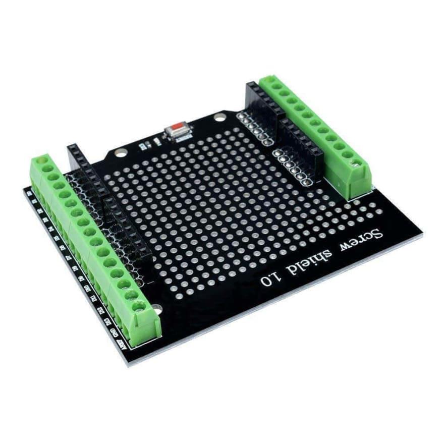 Arduino screw shield.