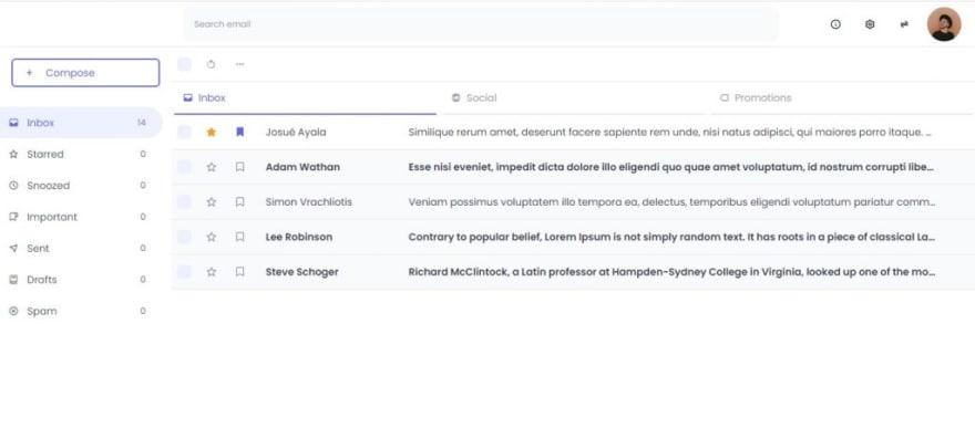 Vue Gmail Clone