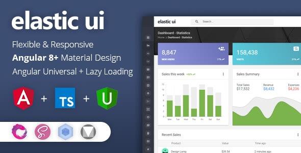 Elastic UI Admin Panel