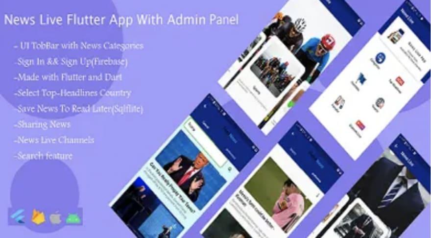 News Live Flutter App template app