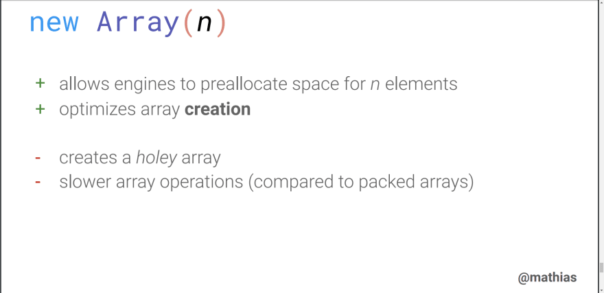 new array()
