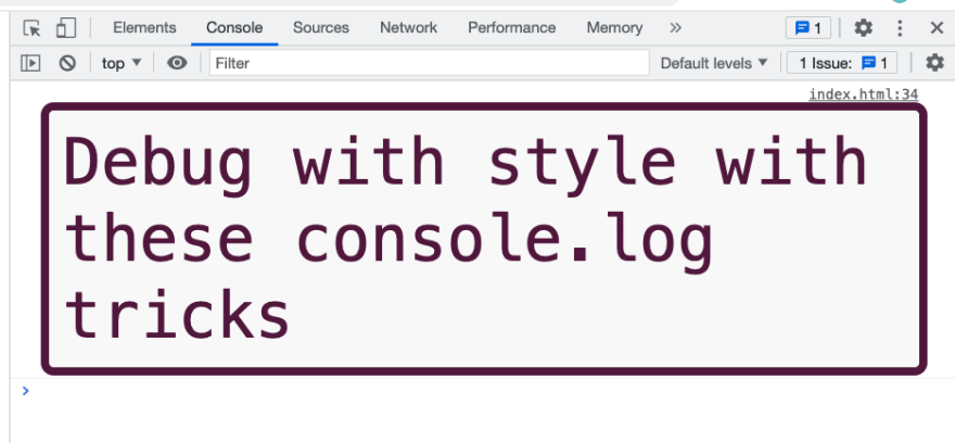 Styled console.log example