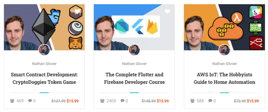 Udemy courses listed using Eduma