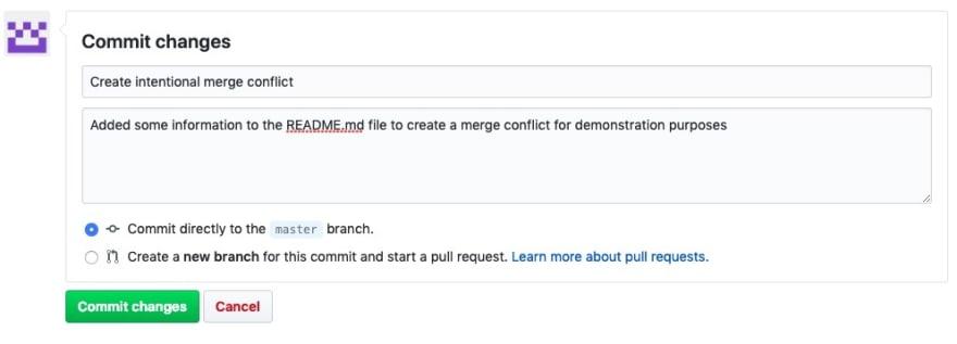 create merge conflict