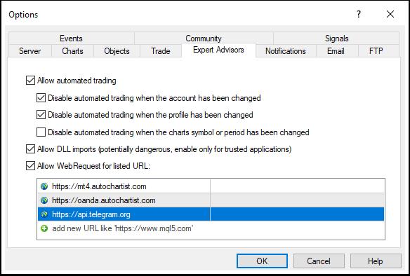 Configure MT4 Client