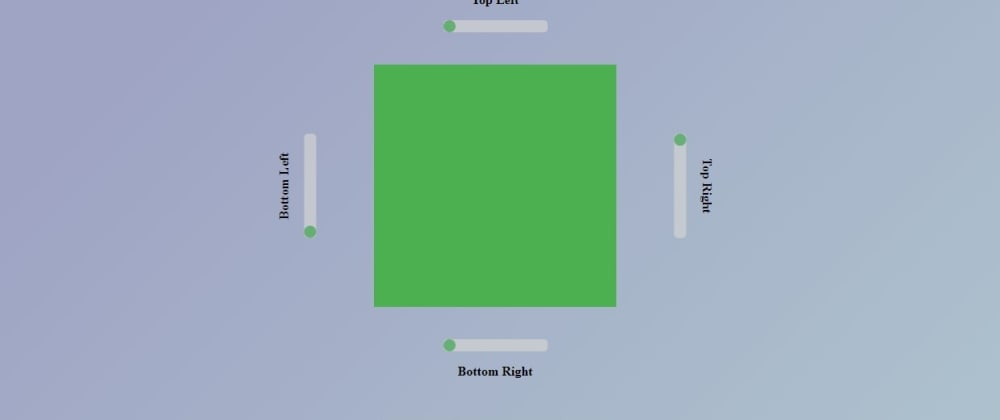 Cover image for Border Radius Generator Tool (VanillaJS)