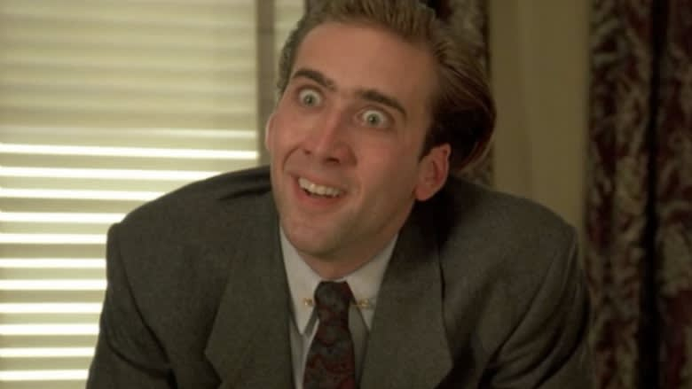 Nicholas Cage making a crazy face