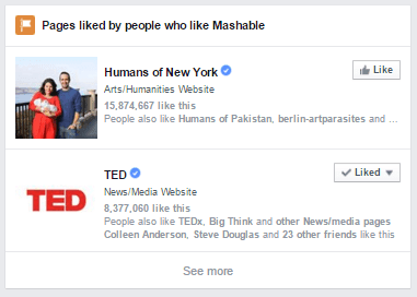 facebook pages liked by people who like this page