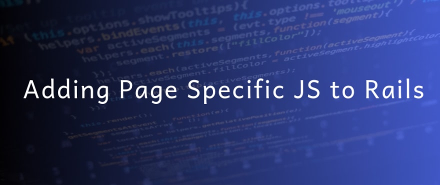 Adding Page Specific JS to Rails Application