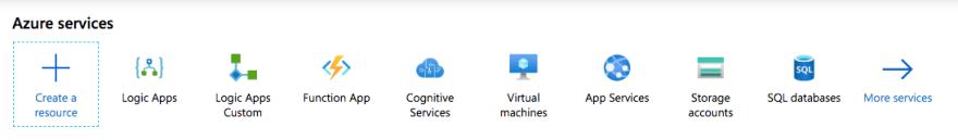 Azure Portal Home Page