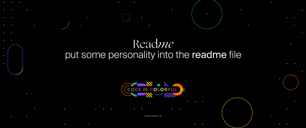 Cover image for Readme's - more than only tech instructions