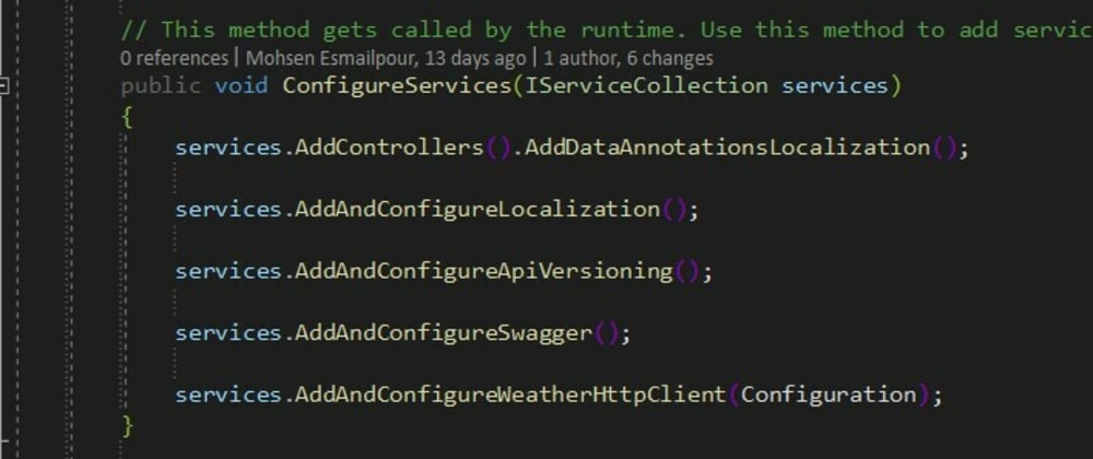 Cover image for What every ASP.NET Core Web API project needs - Part 6 - IServiceCollection Extension