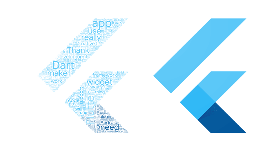 Logotipo oficial del SDK multiplataforma de Flutter, visto en Ciberninjas