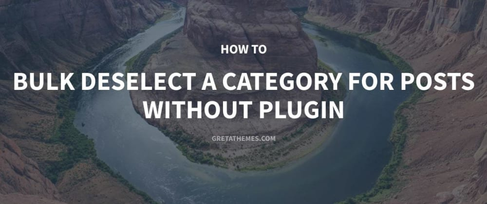 Cover image for How to Bulk Deselect a Category for Posts without Plugin