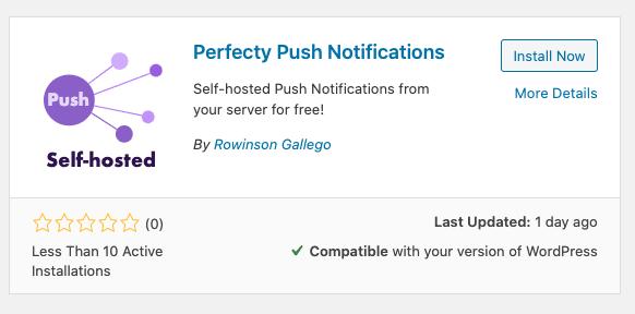 Perfecty Push Notifications Wordpress plugin