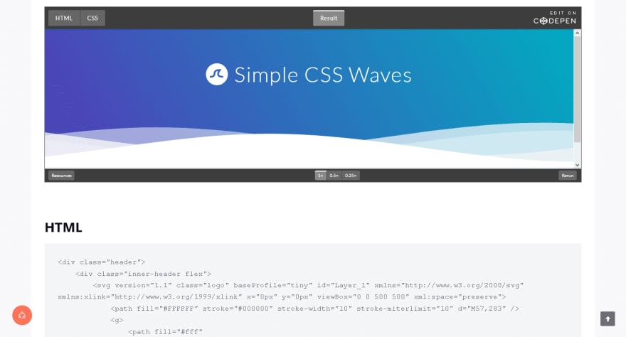 CSS Waves