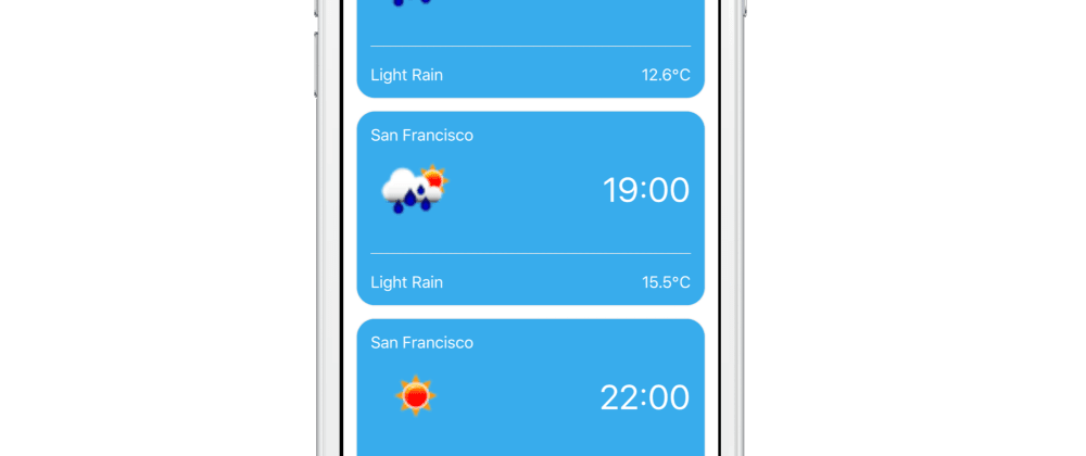 Cover image for How to build an Geolocation Weather Forecast app in React Native in 30 minutes