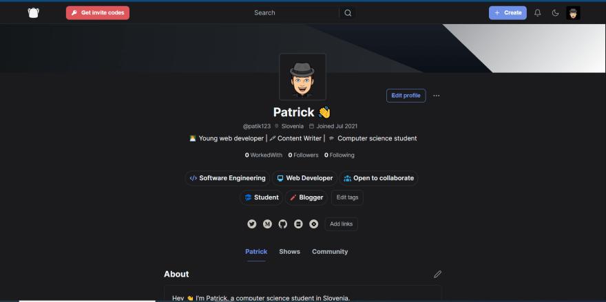 My ShowCase profile