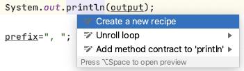 Create a new recipe popup